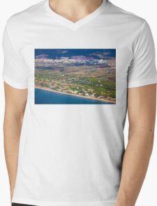 Castelldefels Beach, south of Barcelona, Catalonia, Spain Mens V-Neck T-Shirt