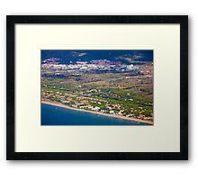 Castelldefels Beach, south of Barcelona, Catalonia, Spain Framed Print