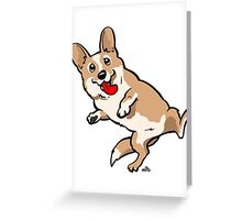 Cartoon Corgi dog shirt Greeting Card