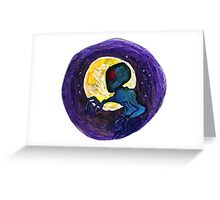Grey Moon Greeting Card