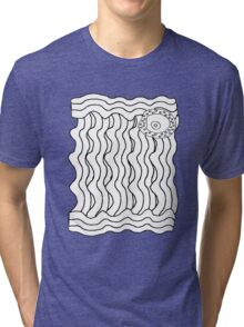 Black and White Abstract 6 Tri-blend T-Shirt