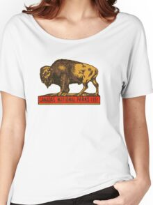 Canada's National Parks 1951 vintage sticker Women's Relaxed Fit T-Shirt