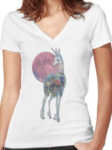 The Last Unicorn & Characters Women's Fitted V-Neck T-Shirt