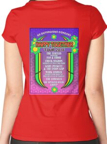 poster an outrageous concert - happy together 2016 - LINEUP Women's Fitted Scoop T-Shirt