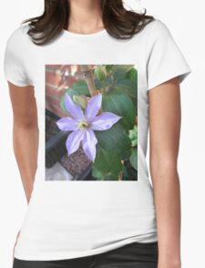 New Blue Clematis Blossom T-Shirt
