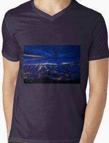 Sunrise over Barcelona, Spain  Mens V-Neck T-Shirt