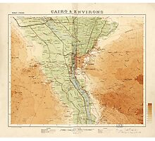 Cairo & Environs, Map of Egypt (1925) Photographic Print