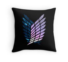 Wings of Space || Survey Corps logo Throw Pillow