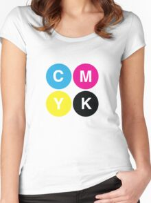 CMYK Stops Women's Fitted Scoop T-Shirt