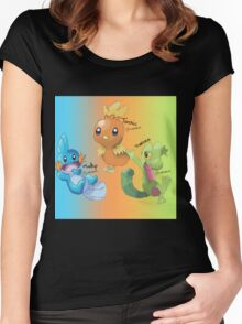 Mudkip, Torchic and Treecko Women's Fitted Scoop T-Shirt