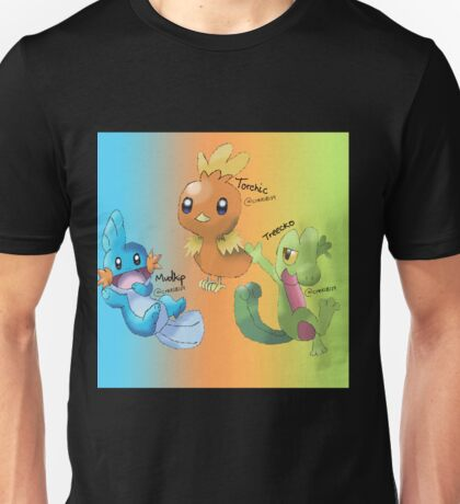 Mudkip, Torchic and Treecko Unisex T-Shirt