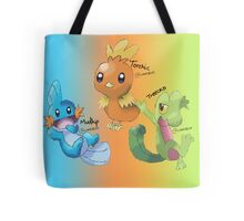 Mudkip, Torchic and Treecko Tote Bag
