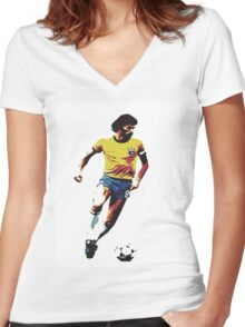 Socrates Brazil Legend Women's Fitted V-Neck T-Shirt