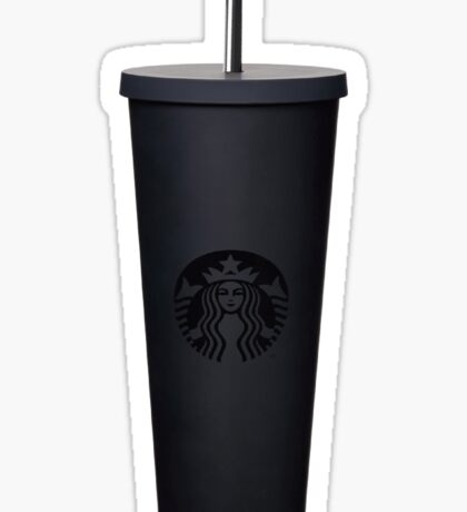 matte black venti starbucks cup Sticker