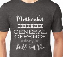 """Thou art a general offence"" Shakespeare insult (white) Unisex T-Shirt"
