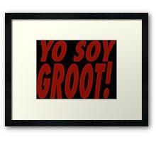 Yo Soy Groot Framed Print
