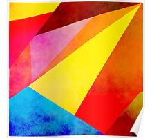 Colorful geometry Poster