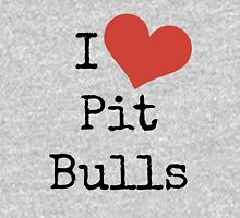 I Love Pit Bulls! Womens Fitted T-Shirt