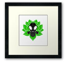 Lotus and Mask Framed Print