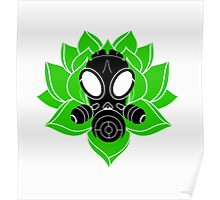 Lotus and Mask Poster