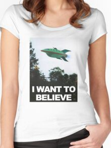 I Want To Believe - Futurama Women's Fitted Scoop T-Shirt