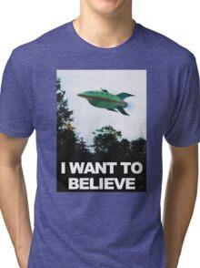 I Want To Believe - Futurama Tri-blend T-Shirt