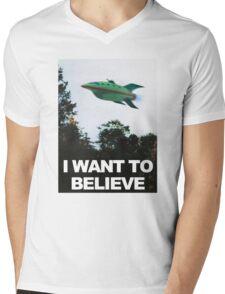 I Want To Believe - Futurama Mens V-Neck T-Shirt