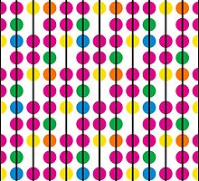 Fun & Colorful Dots & Lines Pattern Design by Mercury McCutcheon