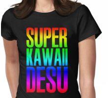 Super Kawaii Desu Womens Fitted T-Shirt