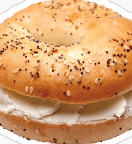 Bagel with cream cheese Sticker