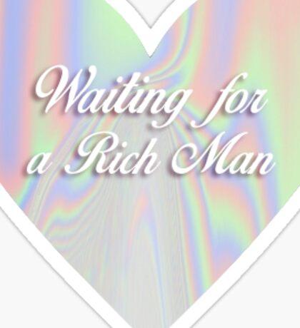Rich Man heart  Sticker
