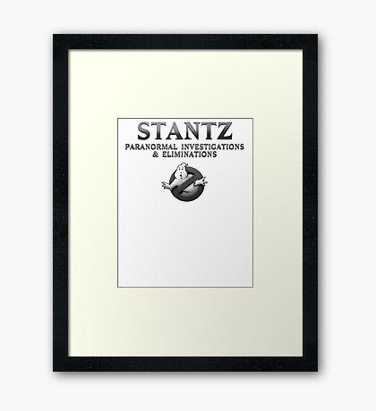GHOSTBUSTERS STANTZ Framed Print
