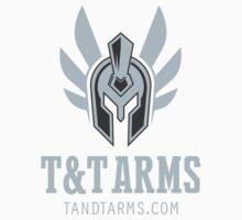 Grey dark vertical logo Baby Tee