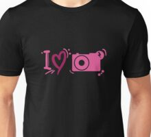 'I Love Photography' - Purple / Pink Photography Graphic Unisex T-Shirt
