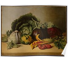 Still Life Balsam Apple and Vegetables Poster