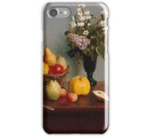 Still Life with Flowers and Fruit Artist Henri Fantin-Latour iPhone Case/Skin
