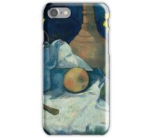 Still Life with Teapot and Fruit ,  Paul Gauguin iPhone Case/Skin