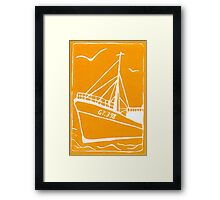 Ross Tiger in Yellow Framed Print