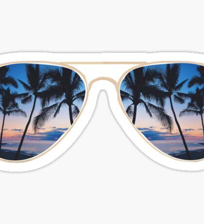 Sunset Sunglasses Sticker