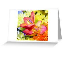 Freesia watercolour Greeting Card