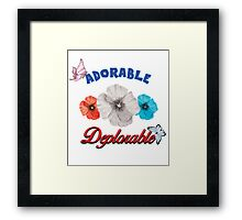 ADORABLE DEPLORABLE DONALD TRUMP HILLARY CLINTON WOMEN'S RED WHITE BLUE Framed Print