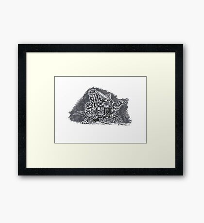 Heroes in a Half Shell!!! Framed Print