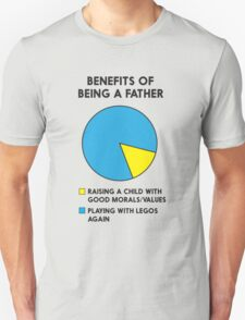 Benefits of being a father pi echart Unisex T-Shirt