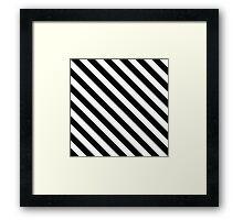 Black and White Geometric Line Pattern Framed Print