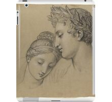 Study Of Heads For Study For Castor And Pollux Freeing Helen , Joseph-Ferdinand Lancrenon iPad Case/Skin