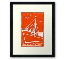 Ross Tiger in Orange Framed Print
