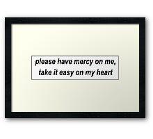 Shawn Mendes Mercy Framed Print