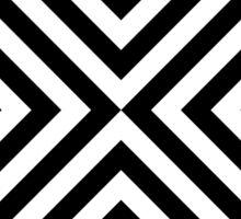 Geometric Black and White Line Pattern Sticker