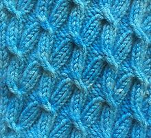Hand dyed knitted cables blue by knititude