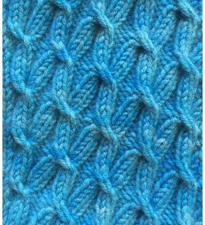 Hand dyed knitted cables blue Sticker
